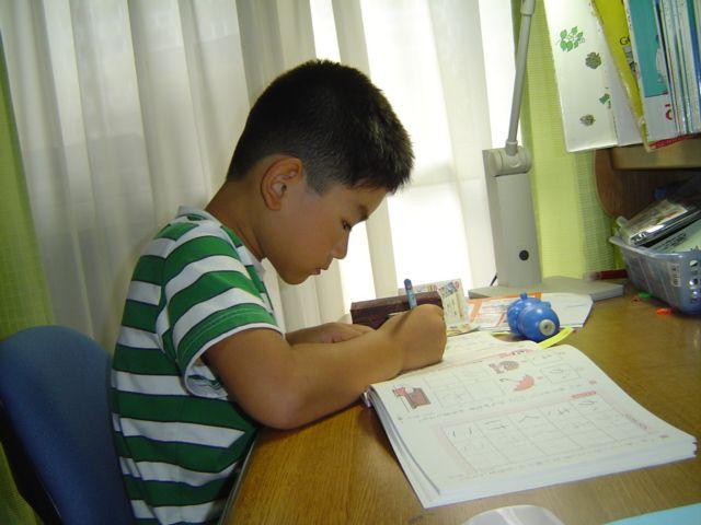 勉強する下の子