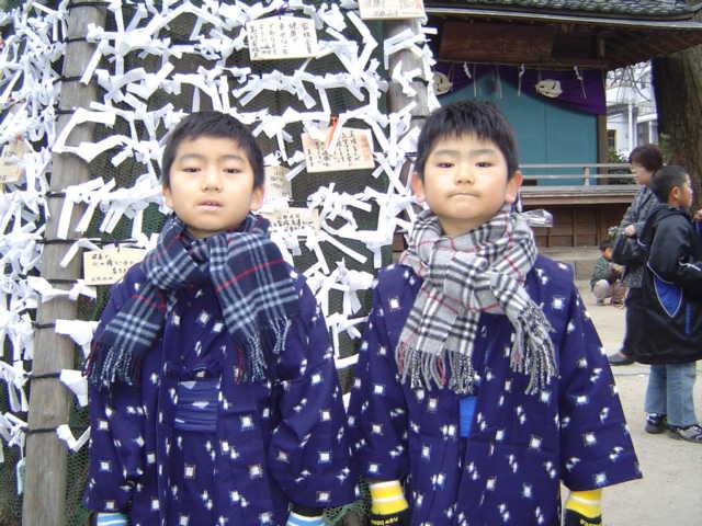 松戸神社でおみくじ