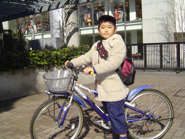 自転車で帰宅