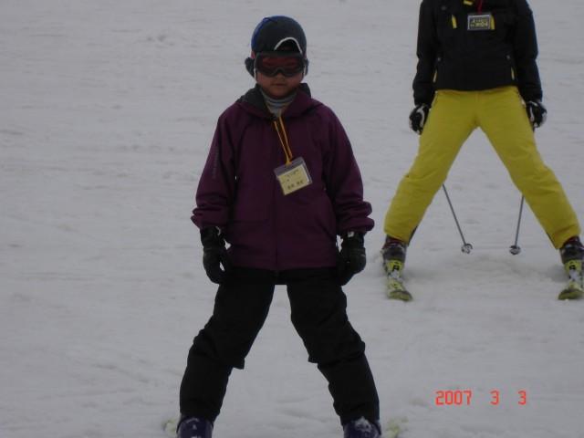 スキーの練習 (午後の部)