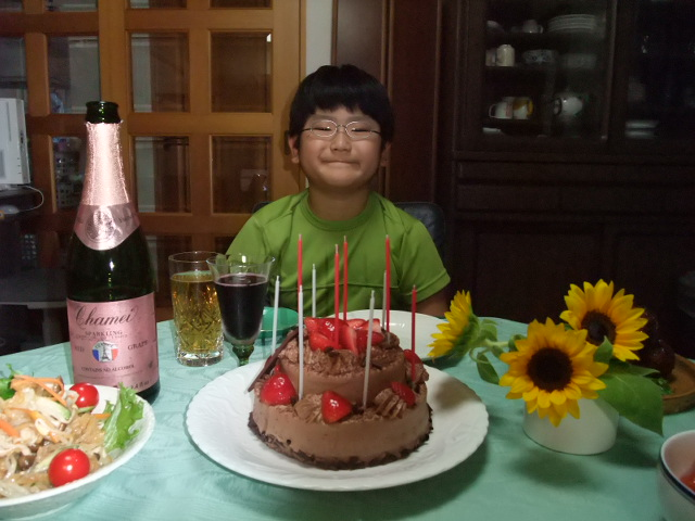 下の子の誕生日のお祝い