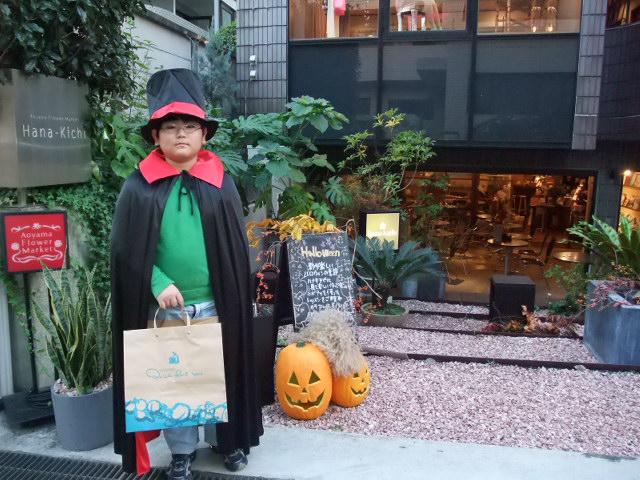 青山ハロウィンイベントに出かける下の子