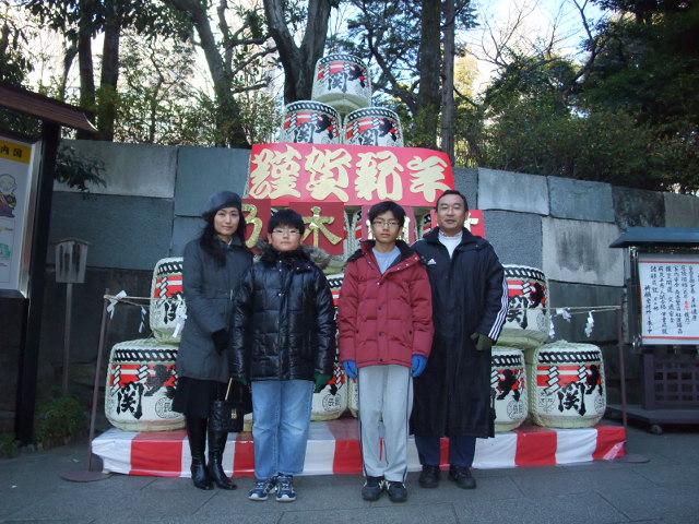 一家で乃木神社に初詣