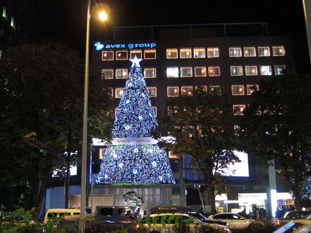 AVEXビルのクリスマスツリー
